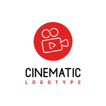 Video camera icon. Cinema camera icon. Film camera, Movie camera icon. Vector icon 일러스트