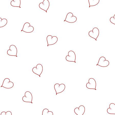 Line hearts pattern. Love background