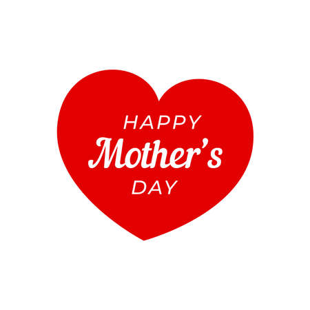 Happy Mother's Day with heart.