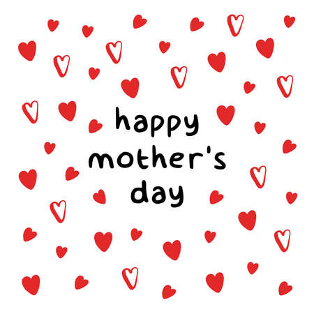 Happy Mother's Day. Hearts banner