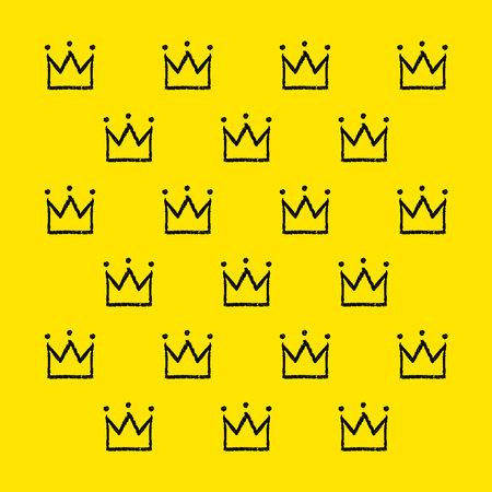 Brush crown pattern. King background