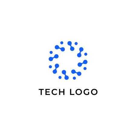 Technology logotype template. Tech icon
