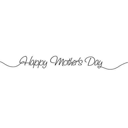 Happy Mother's Day. Vector illustration 일러스트