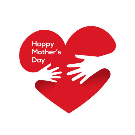 Heart with hands. Happy mother's day