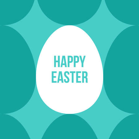 Happy Easter abstract banner. Geometrical background