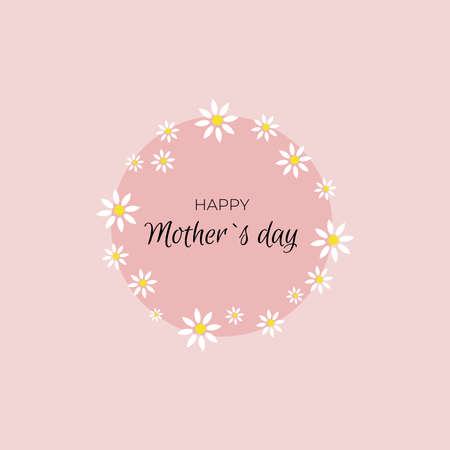 Happy Mother's Day. Banner with flowers 일러스트