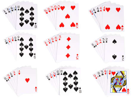 All the hands ranked in poker