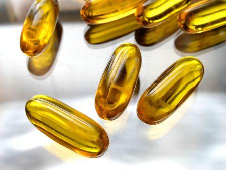 Vitamin capsules Stock Photo