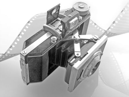 Old 35mm camera Stock Photo - 387177