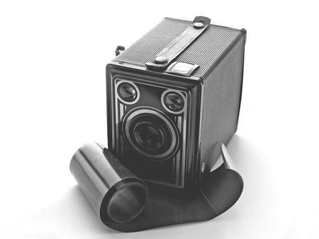 Box-Kamera und Film