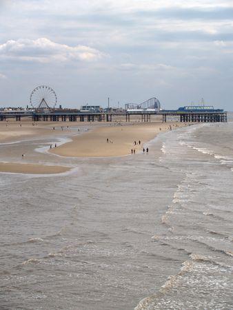 Blackpool Strand Lizenzfreie Bilder
