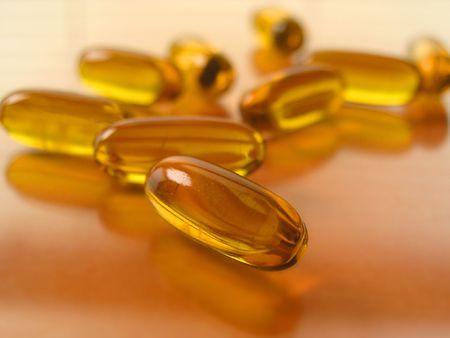 gelatin: Gelatin capsules Stock Photo