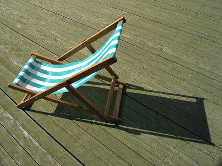 deckchair on pier