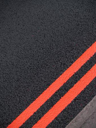 kerb: Road markings Stock Photo
