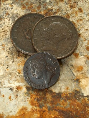 circulated: Old coins