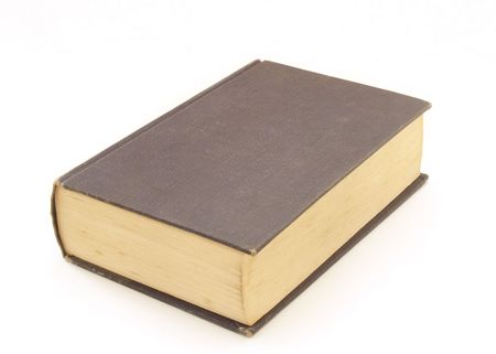 Hardback book on a white background Stock Photo - 624736