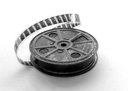 16mm film reel with film