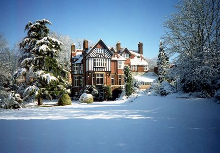 Victorian garden in snow Stock Photo - 698579
