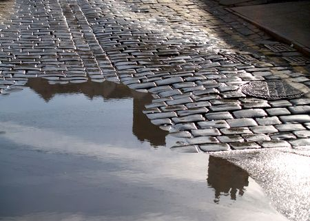 Water puddle  Stock Photo