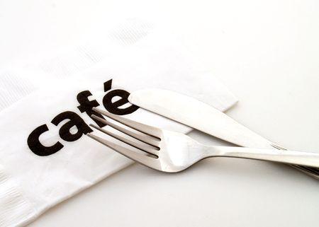 Cafe Besteck  Lizenzfreie Bilder