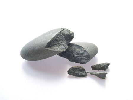Smashed pebble