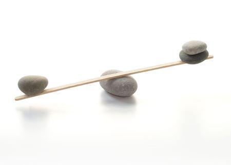 Balanced pebbles     Stock Photo
