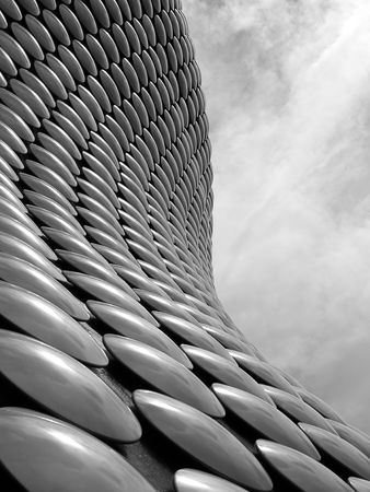 Aluminium-Discs auf den Aufbau Fassade Lizenzfreie Bilder