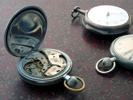 Vintage pocket watches with watch-works Stock Photo - 3120978