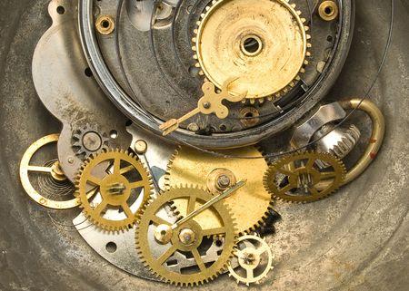 Pocket watch  open showing clockworks