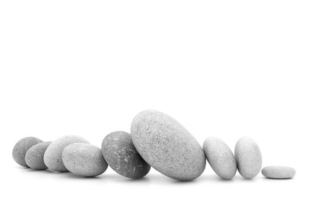 Pebbles isolated on a white background Stock Photo