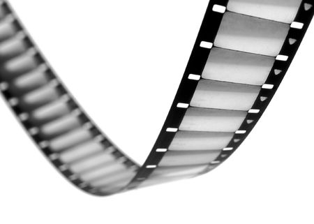 sprockets: 16mm film frames with sprockets Stock Photo