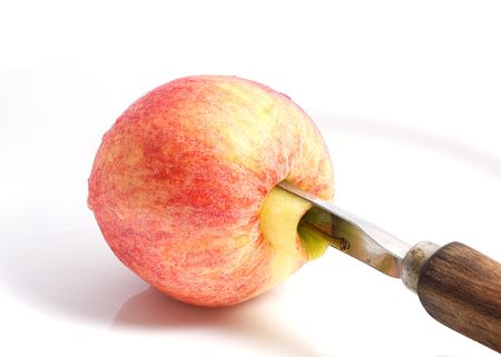 Apple with apple corer