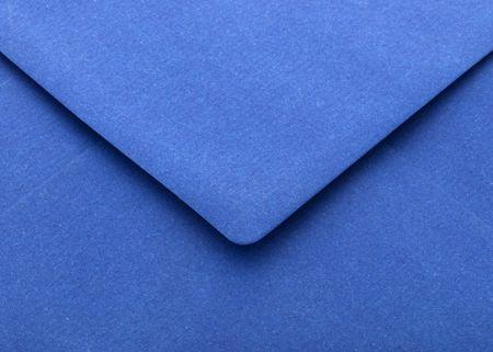 sealable: Blue open flap envelope Stock Photo