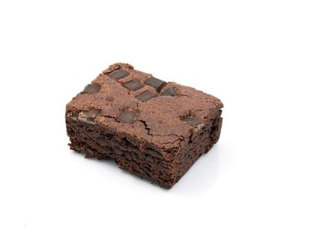 Schokolade-Chip-Schokoladenkuchen auf wei�    Lizenzfreie Bilder