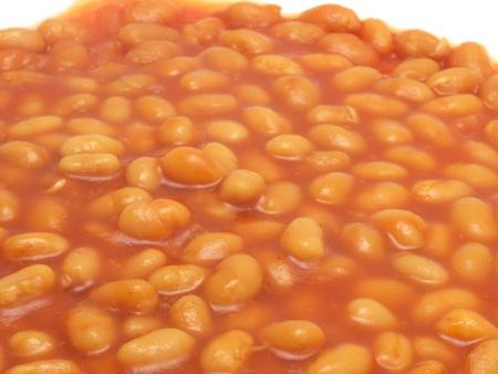 baked beans: baked beans on white
