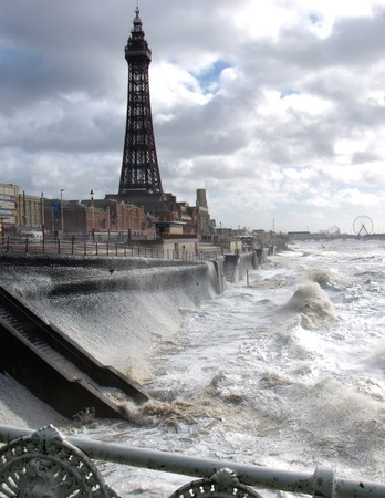 Blackpool tower and promenade