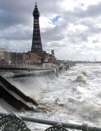 Blackpool Tower und Promenade Editorial