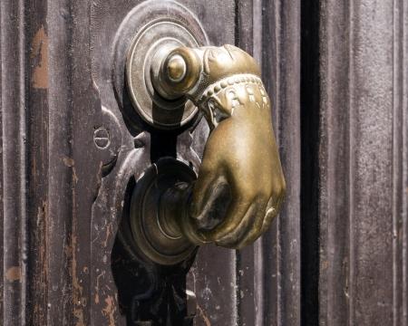 knocker: Old Spanish door knocker