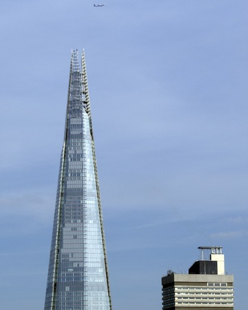 shard of glass: The Shard and adjacent building