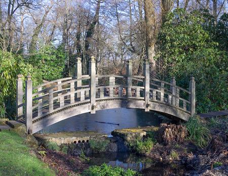 garden styles: Oak Japanese bridge