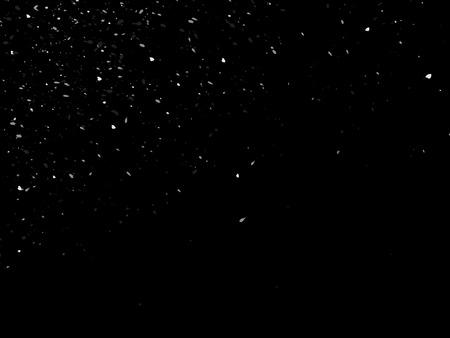 Vector abstracte goudverf splatterborstel zwarte achtergrond.