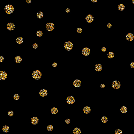 gold textured background: Vector abstract gold spot glitter textured circles background