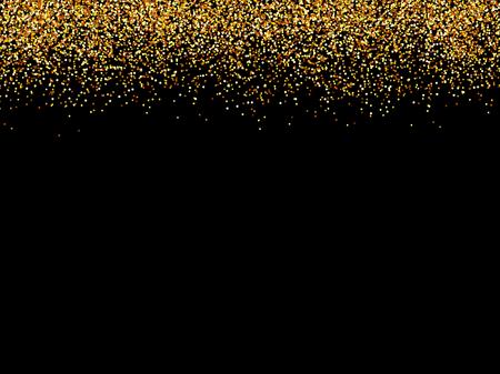 abstract gold glittering stars black background.golden glitter texture.