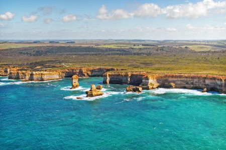australasia: Great Ocean Road (Australia), view from a helicopter Stock Photo