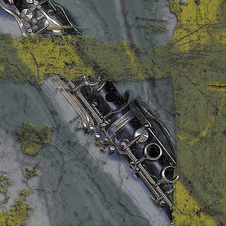 clarinet: Musical illustration with clarinet Stock Photo