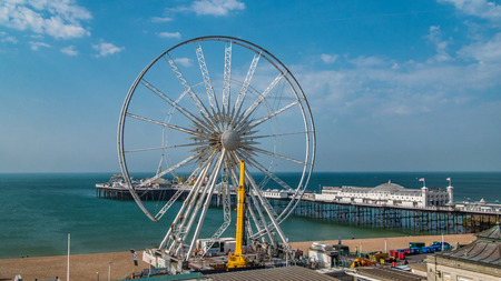dismantled: The iconic Brighton wheel being dismantled Editorial
