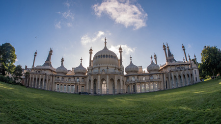 brighton: Fish eye view of the Brighton Royal pavilion
