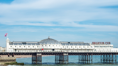 brighton: View of the Palace pier in Brighton