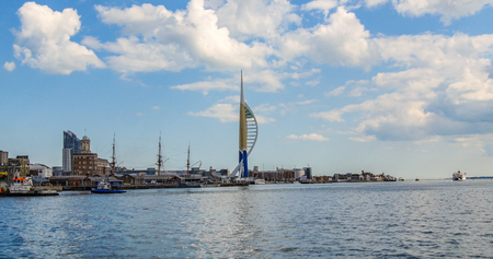 spinnaker: View of the old town of Portsmouth