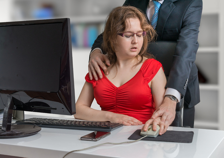 Harassment at workplace. Boss is seducting and flirting with secretary in office.